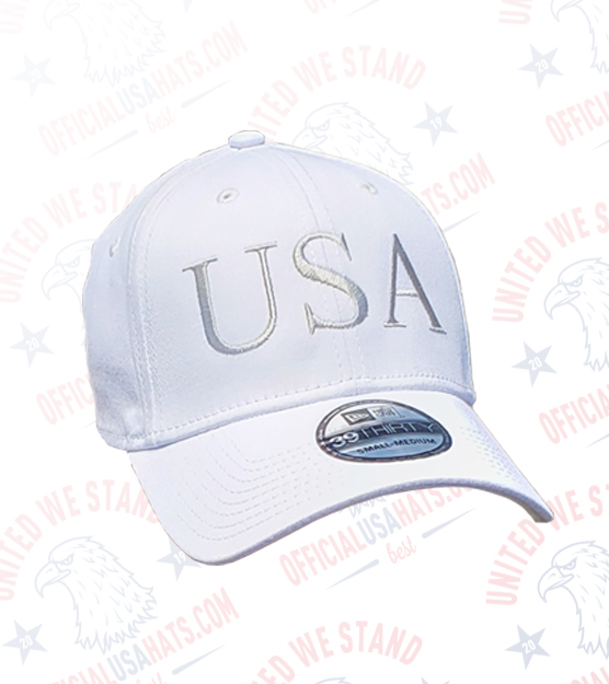 White USA Hat - Front