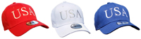 Official USA Hats in Red, White and Blue