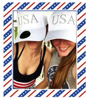 Official White USA Hats