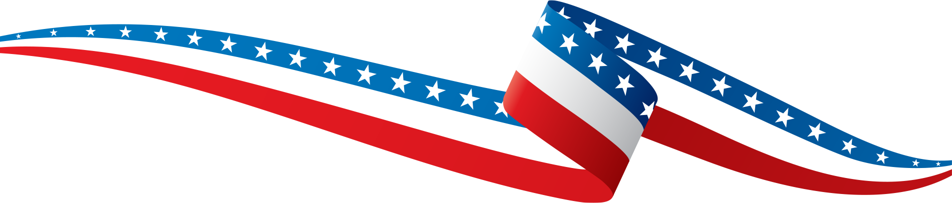 Header American flag background