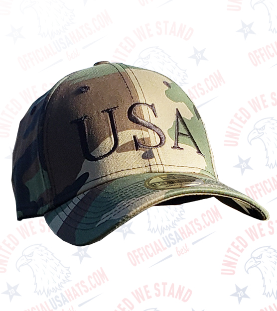 Camo USA Hat - Front